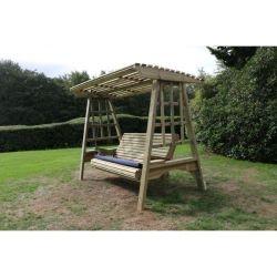 Wooden Framed Garden Swing Seats
