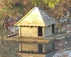 Floating Duck Houses and Waterfowl Platforms