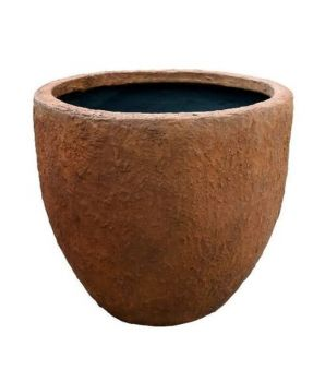 Apollo Tapered Pot Rust Wet Small