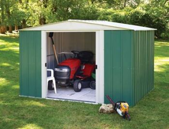 10' x 8' Metal Apex Shed with sliding doors