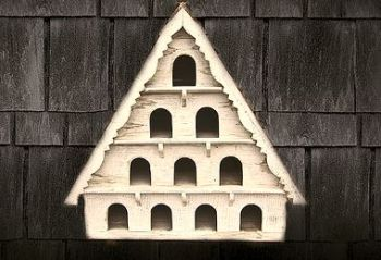 Four Tier Dovecote (Large Hole) Traditional English Triangular Wall Mounted Birdhouse for Doves or Pigeons