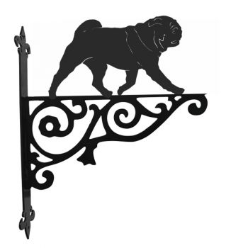 Pug Ornamental Hanging Bracket