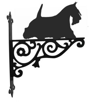 Scottish Terrier on the move Ornamental Hanging Bracket