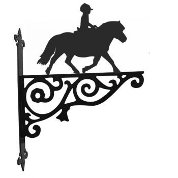 Shetland Pony and Rider Ornamental Hanging Bracket