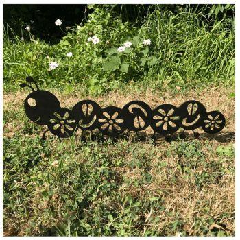Caterpillar Garden Art