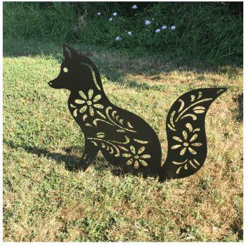 Fox Sitting Garden Art