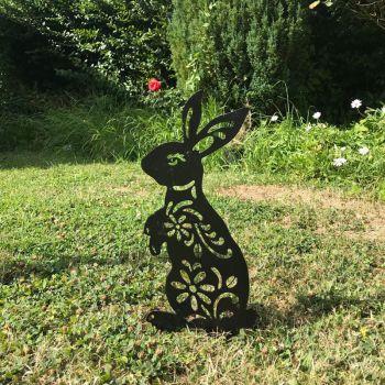 Rabbit Garden Art