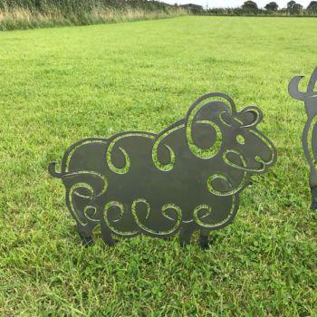 Small Sheep Garden Art