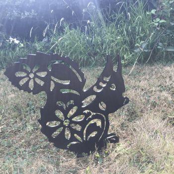 Squirrel Garden Art