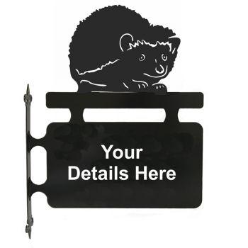 Hedgehog Hanging Sign