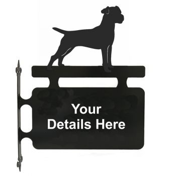 Patterdale Terrier Hanging Sign