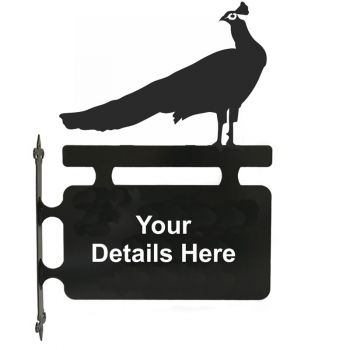 Peacock Hanging Sign