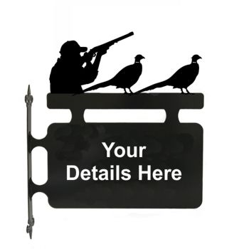 Pheasant And Shooting Personalised Hanging Sign