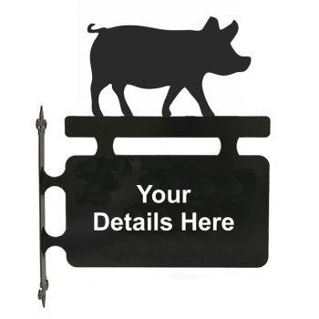 Pig Hanging Sign