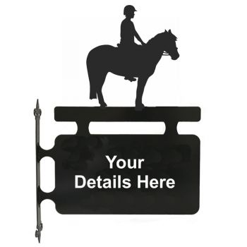 Pony and Rider Hanging Sign