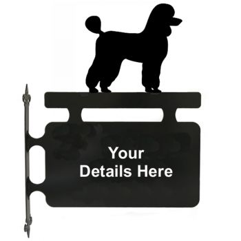 Poodle Hanging House Sign