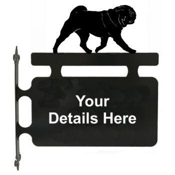 Pug Hanging Sign