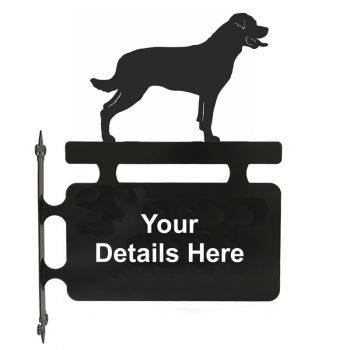 Rottweiler Personalised Hanging Sign