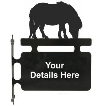 Shetland Pony Hanging Sign
