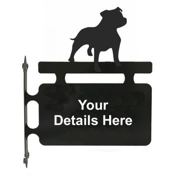 Staffordshire Bull Terrier Hanging Sign