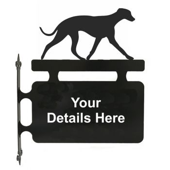 Whippet Hanging Sign