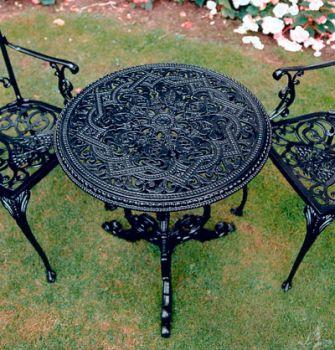 Grape Round Table British Made, High Quality Cast Aluminium Garden Furniture