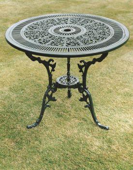 Coalbrookdale 81cm Table British Made, High Quality Cast Aluminium Garden Furniture