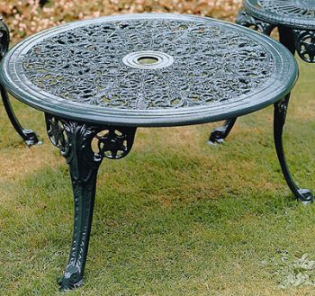 Caolbrookdale Coffee Table British Made, High Quality Cast Aluminium Garden Furniture