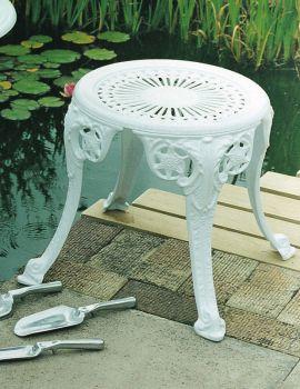 Coalbrookdale Stool British Made, High Quality Cast Aluminium Garden Furniture