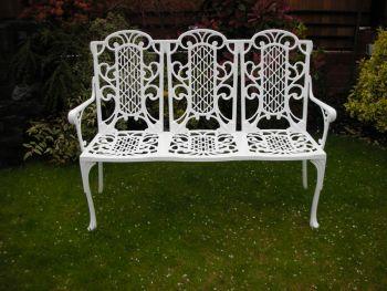 Victorian Bench (3 Seater) British Made, High Quality Cast Aluminium Garden Furniture