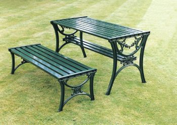 Edwardian Table British Made, High Quality Cast Aluminium Garden Furniture