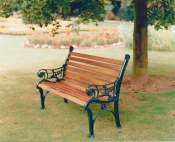 Edwardian Bench British Made, High Quality Cast Aluminium Garden Furniture