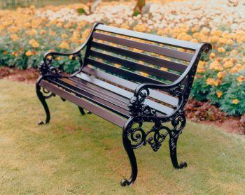 Sandringham Bench British Made, High Quality Cast Aluminium Garden Furniture
