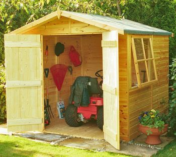 Alderney Double Doors Tongue and Groove Garden Shed Workshop Approx 7 x 7 Feet