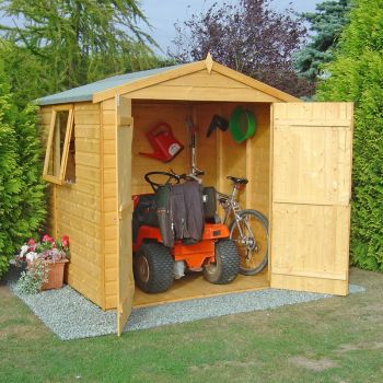 Arran Double Doors Tongue and Groove Garden Shed Workshop Approx 6 x 6 Feet