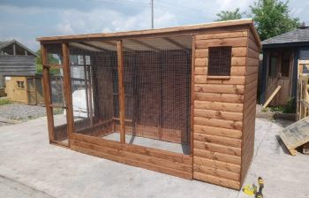 Buttercup All Weather Outdoor Bird Aviary Pet Cage 10' x 4' plus 2' safety porch