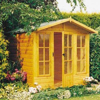 Badminton 7' x 10' Single Door with Two Opening Windows Summerhouse
