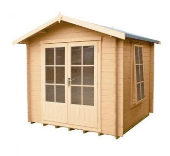 Barnsdale Log Cabin Home Office Garden Room Approx 7 x 7 Feet