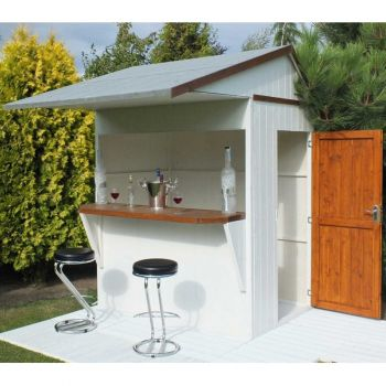 Shire 6 x 4 Single Door Garden Bar and Store