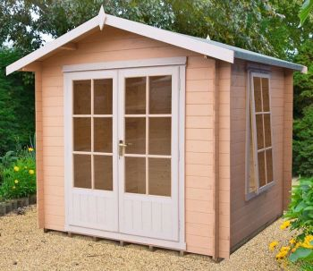 Barnsdale Log Cabin Home Office Garden Room Approx 9 x 9 Feet