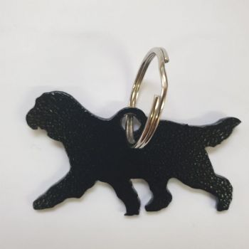 Bearded Collie Key Fob Ring