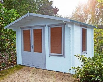 Berryfield Log Cabin Home Office Garden Room Approx 11 x 10 Feet