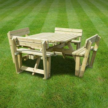 Braunston Picnic Table - Square - Light Green