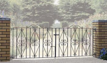 "Stirling Double Gate 36"" High X 12' Gap"