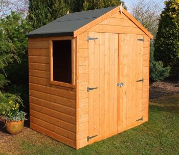 Bute Shiplap Apex Double Doors Tongue and Groove Garden Shed Workshop Approx 4 x 6 Feet