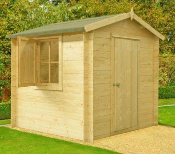 Camelot Log Cabin Home Office Garden Room Approx 7 x 7 Feet