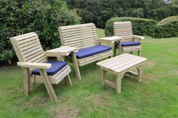 Multi Set, wooden garden table and chairs