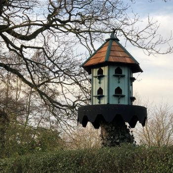 Buttercup Classic Hexagonal Dovecote Large - Traditional English Pole Mounted Birdhouse for Doves or Pigeons
