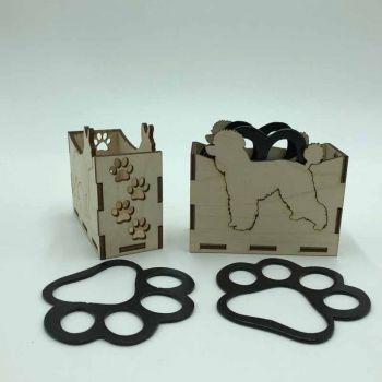Poodle Paw Print Coasters