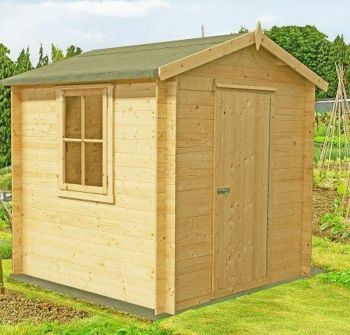 Danbury Log Cabin Home Office Garden Room Approx 9 x 9 Feet